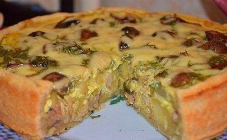 Рецепт Пирог с курицей и картошкой