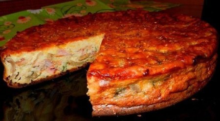 Рецепт Пирог-сметанник с курицей и грибами