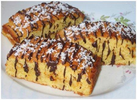 Рецепт Кокосовые пирожные с шоколадом