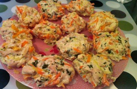Рецепт Котлетки из куриной грудки с овощами