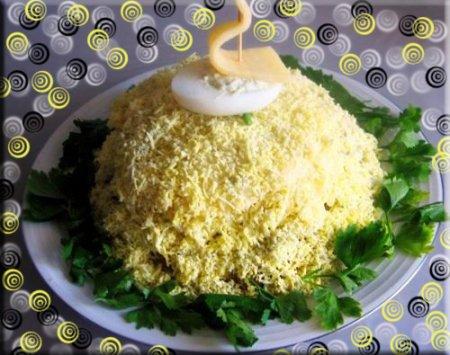 Рецепт Слоеный салат с рыбой и овощами