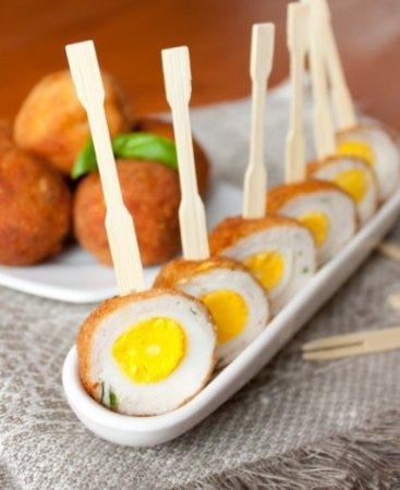 Рецепт Перепелиные яйца по-шотландски