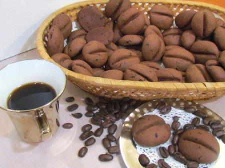 """Рецепт Печенье """"Кофейные зёрна с шоколадом"""""""