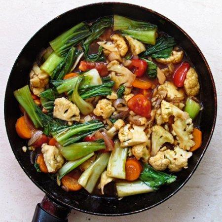 Рецепт Овощи в кисло сладком соусе