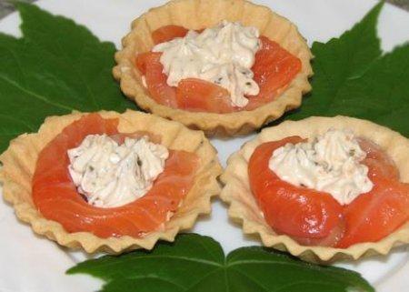 Рецепт Тарталетки с лососем