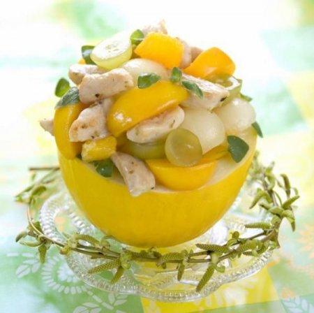 Рецепт Тропический салат из курятины и манго