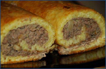 Рецепт Картофельный рулет с мясом