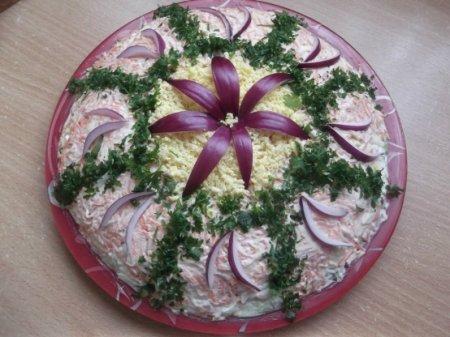 Рецепт Легкий салатик с зеленой редькой «Витаминчики»