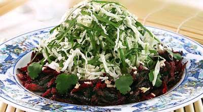 Рецепт Китайская капуста со щавелем и свеклой