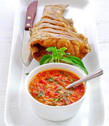 Рецепт Белая рыба с овощным соусом