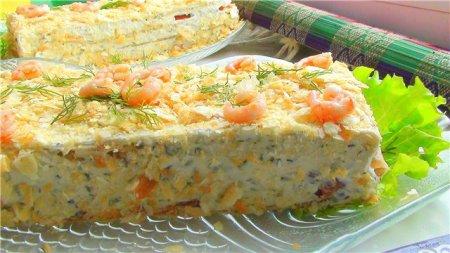 Рецепт Закусочный пирог с семгой