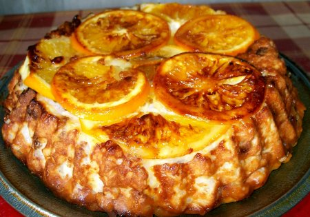 Рецепт Творожно-рисовая запеканка с изюмом и апельсином