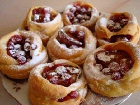 Рецепт Ягодно-творожные лукошки