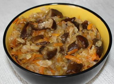 Рецепт Капустная солянка с грибами