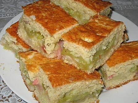 Рецепт Песочный пирог с ревенем
