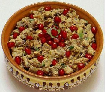 Рецепт Баклажаны печеные c гранатом