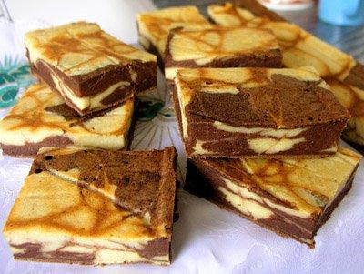 Рецепт Пирожные с шоколадом и творогом
