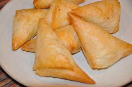 Рецепт Сырные треугольники