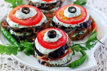 Рецепт Летняя закуска из овощей со сливочным сыром и зеленью