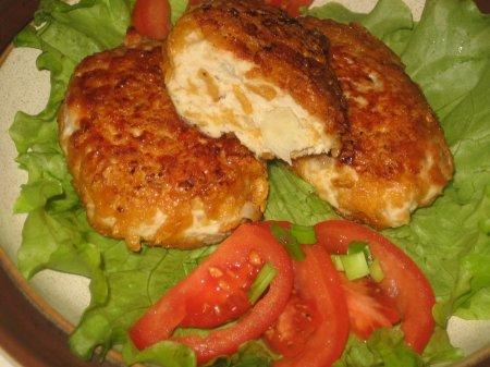 Рецепт Куриные котлеты с кукурузными хлопьями