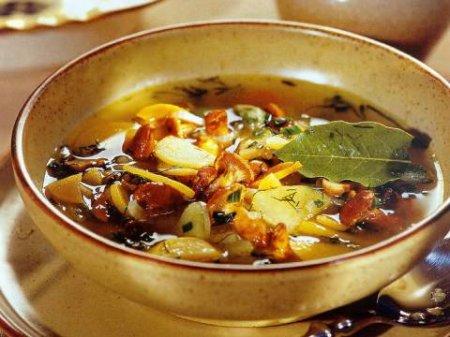 Рецепт Грибной суп из лисичек с репой