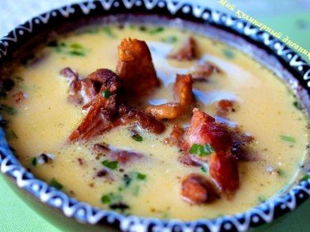 Рецепт Тыквенный крем-суп с лисичками