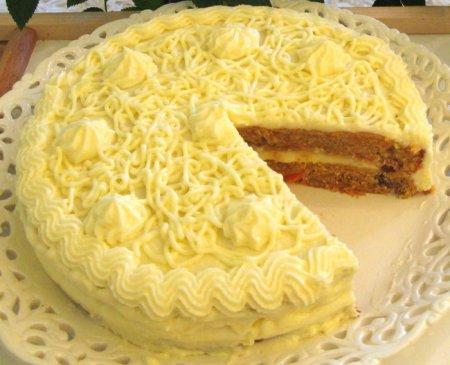 Рецепт Морковный торт с сыром и орехами