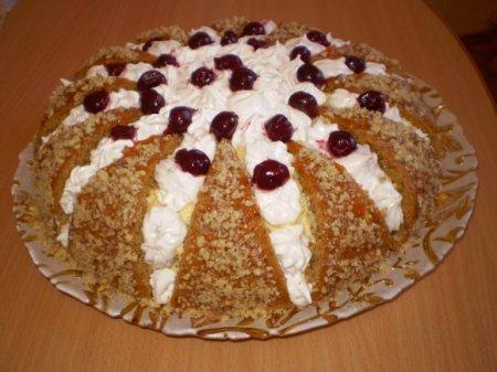 Рецепт Тортик ореховый бисквит
