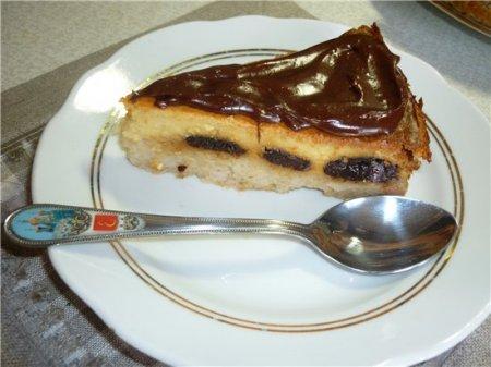 Рецепт Рисово-творожный пирог с черносливом