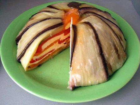 Рецепт Террин из баклажанов и перцев