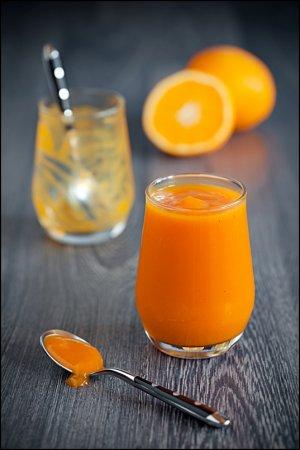 Тыквенно-апельсиновый кисель (с маракуйей)