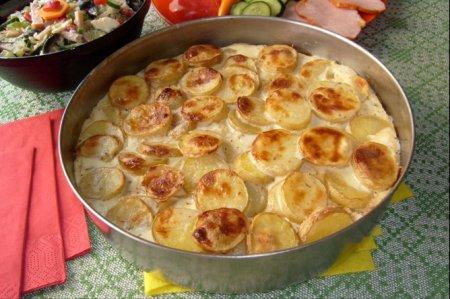 Рецепт Баклажаны печеные с картофелем и яйцом