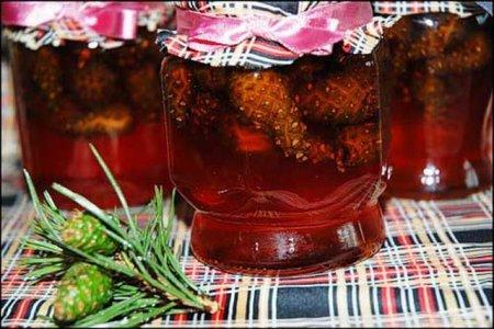 Рецепт Варенье из сосновых шишек и сосновый мёд от кашля и простуды