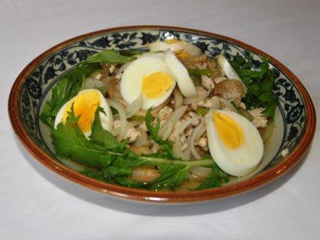 Рецепт Тайский салат из печеных баклажанов