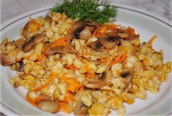 Каша с грибами