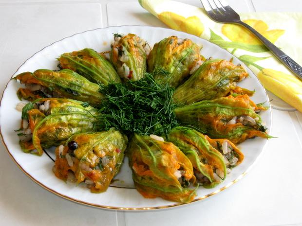 Фаршированные цветы кабачков рецепт фото