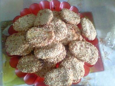 Рецепт Соленое печенье с сыром и кунжутом