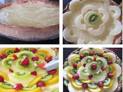 Рецепт Торт из песочного теста с фруктами