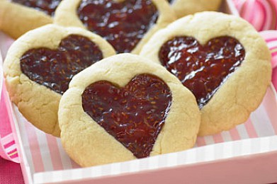 Рецепт Печенье с малиновым вареньем
