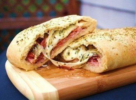 Рецепт Стромболи (пицца-рулет)