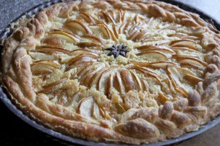 Рецепт Грушевый пирог с миндалем