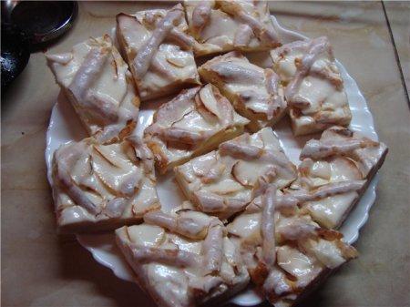 Рецепт Яблочный пирог со сметанным кремом