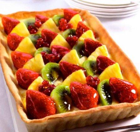 Рецепт Классический фруктовый тарт