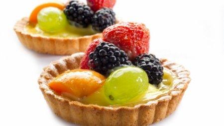 Рецепт Пирожные «Ягодно-фруктовые»