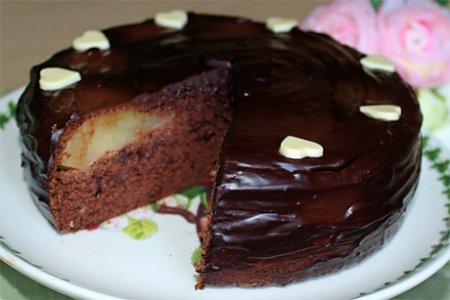 Рецепт Пирог «Груши в шоколадном бисквите»