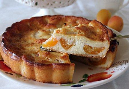 Рецепт Творожно-абрикосовый пирог