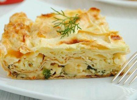 Рецепт Пирог из лаваша с сыром и зеленью
