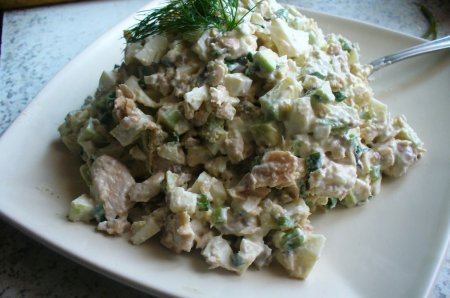"Рецепт Салат с авокадо и тунцом ""Лето"""