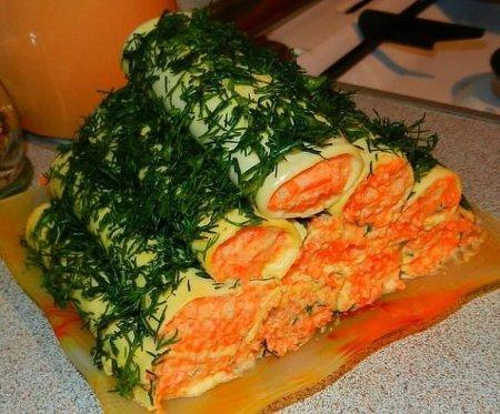 Рецепт Сырные закусочные трубочки