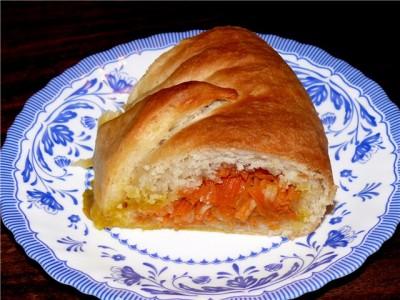 """Рецепт Морковный постный пирог """"Ото всех понемногу"""""""